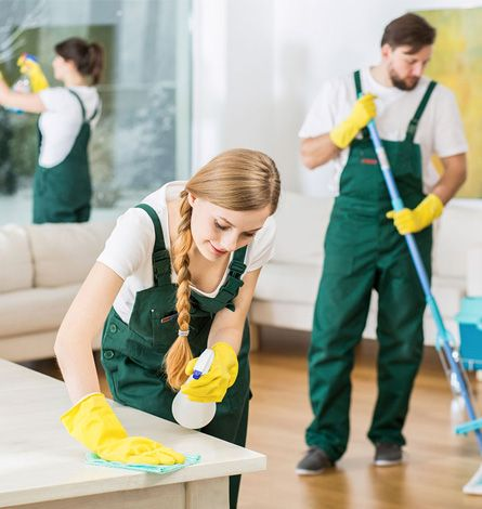 deep cleaners at work